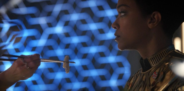 Star Trek Discovery Vaulting Ambition eating Saru
