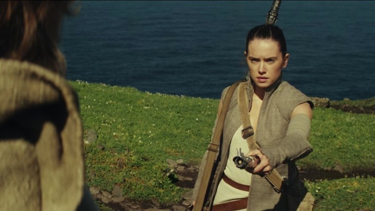 Rey and Luke, The Force Awakens