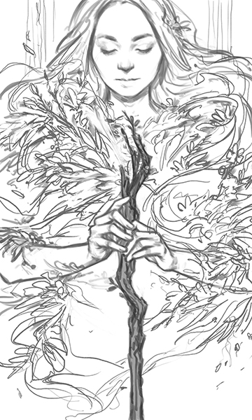 Ace of Wands — Sketch
