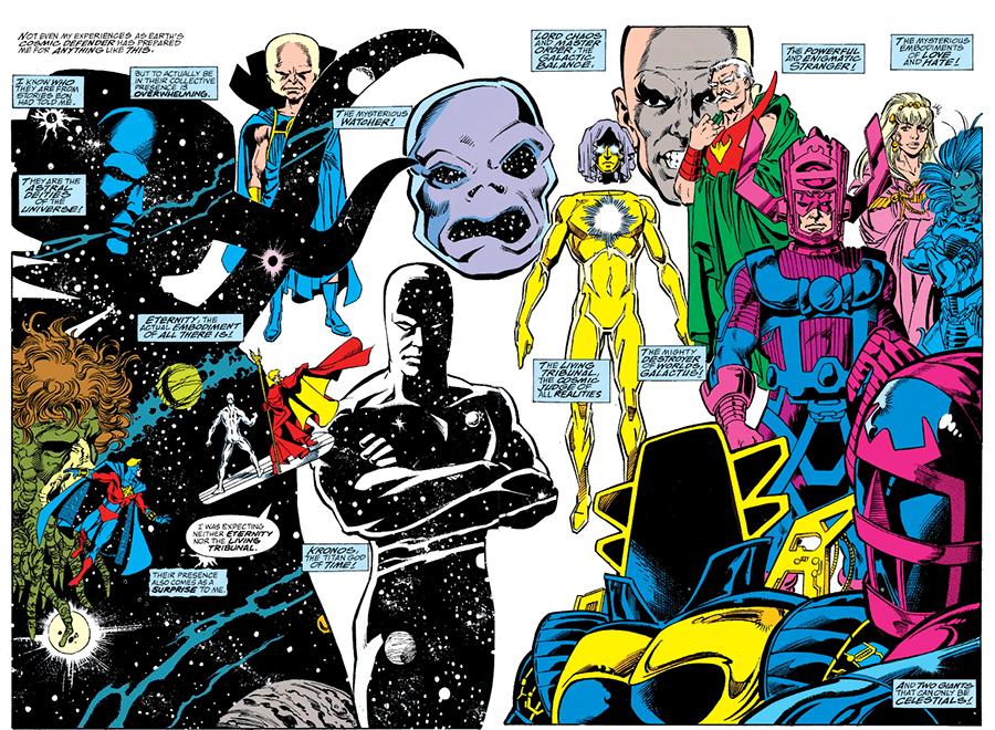 Infinity Gauntlet cosmic pantheon