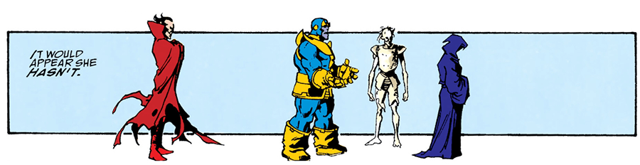 Infinity Gauntlet Death rejects Thanos