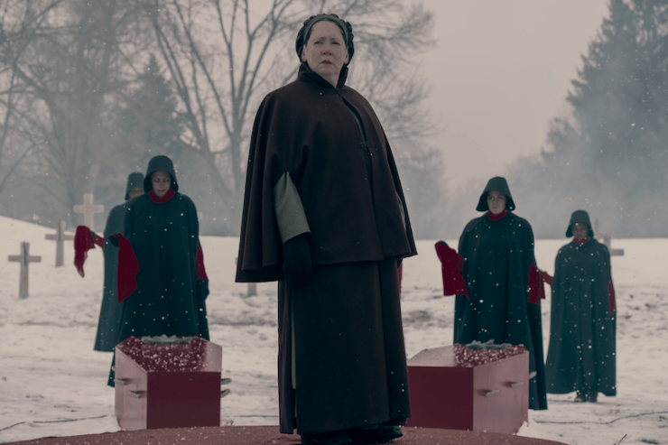 """The Handmaid's Tale 207 """"After"""" television review funeral Aunt Lydia"""
