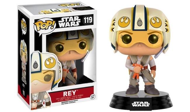 Figurine of Rey from Star Wars