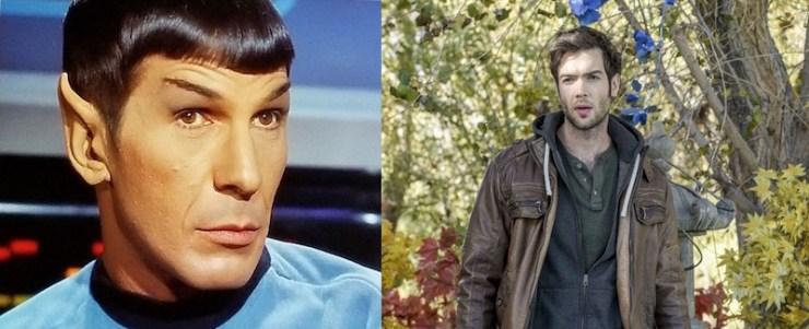 Leonard Nimoy as Mr. Spock, Ethan Peck