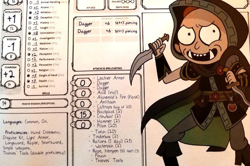 Patrick Rothfuss Dungeons  Dragons Character For Morty -1486