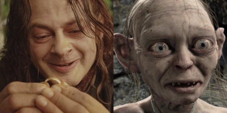 Hobbits, Gollum and Smeagol