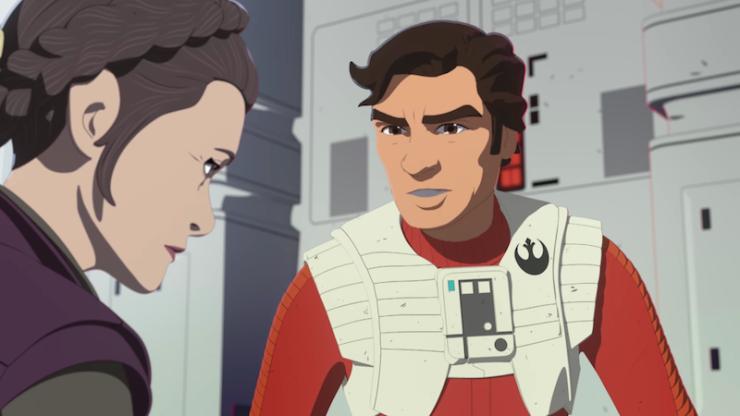 Star Wars Resistance extended sneak peek trailer General Leia Captain Phasma