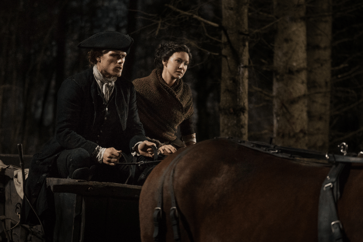 """Outlander season 4 premiere review """"America the Beautiful"""" television review Jamie Claire North Carolina"""