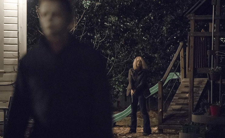 Halloween feel good family movie intergenerational trauma Laurie Strode Michael Myers