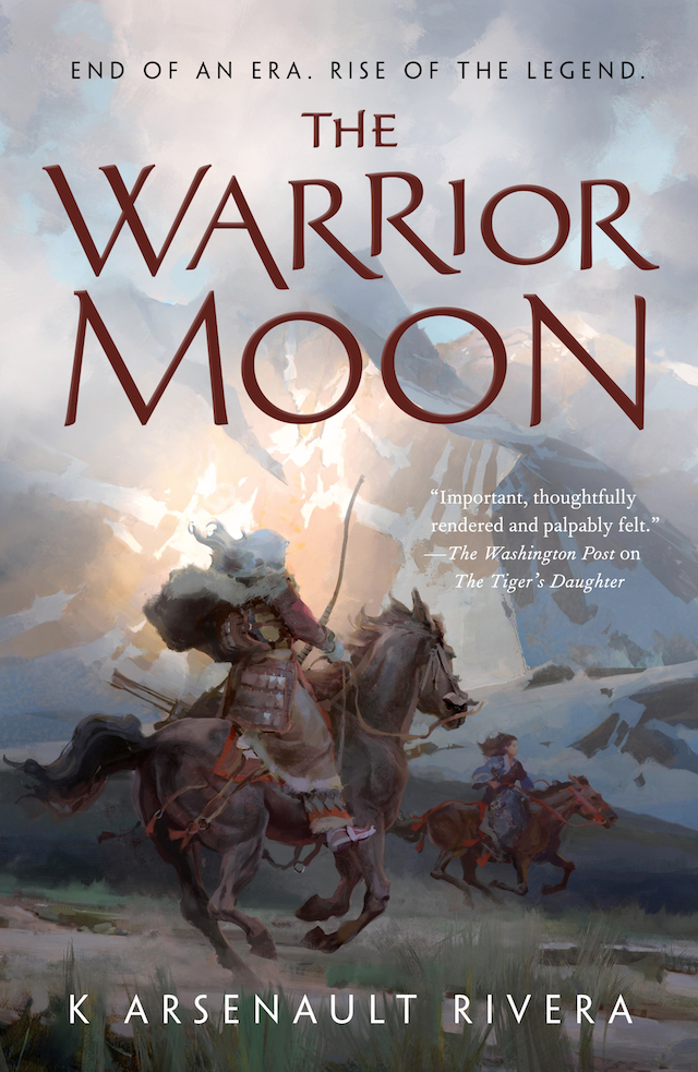 The Warrior Moon by K. Arsenault Rivera cover