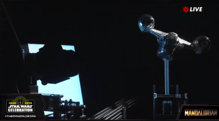 The Mandalorian ship, special effects