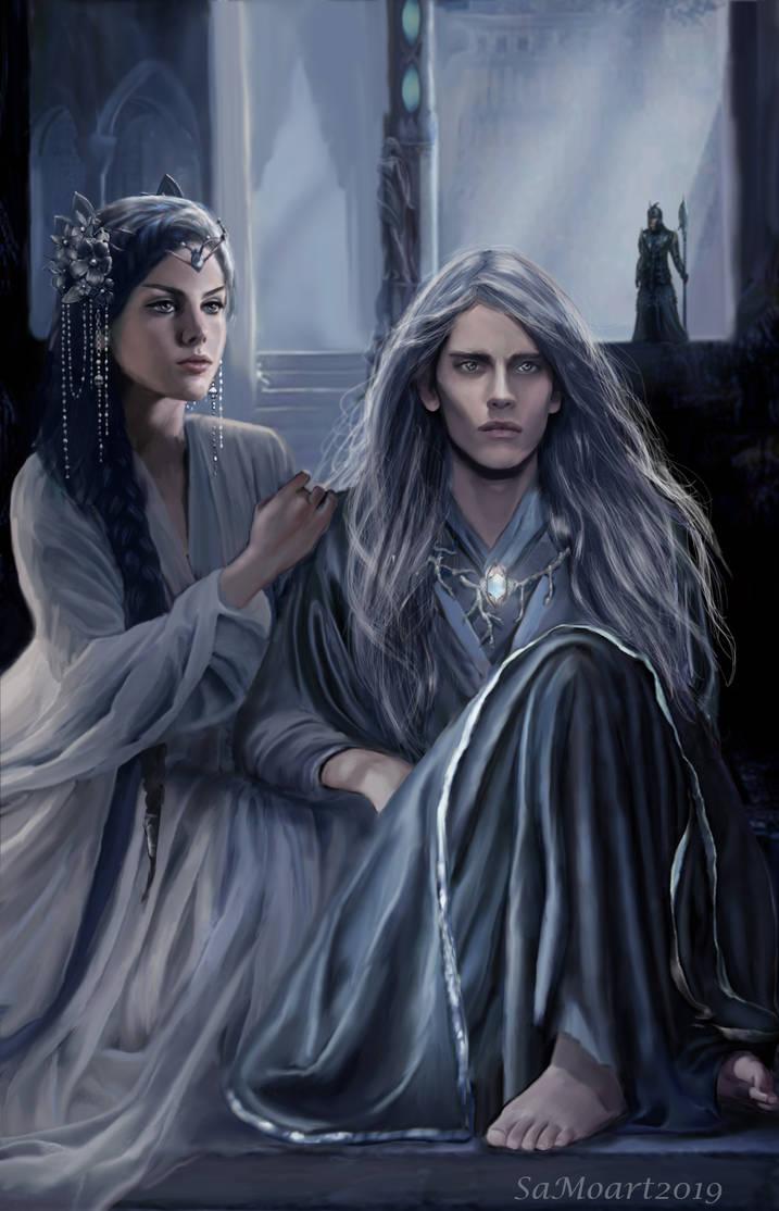 Elvish man and woman sitting together