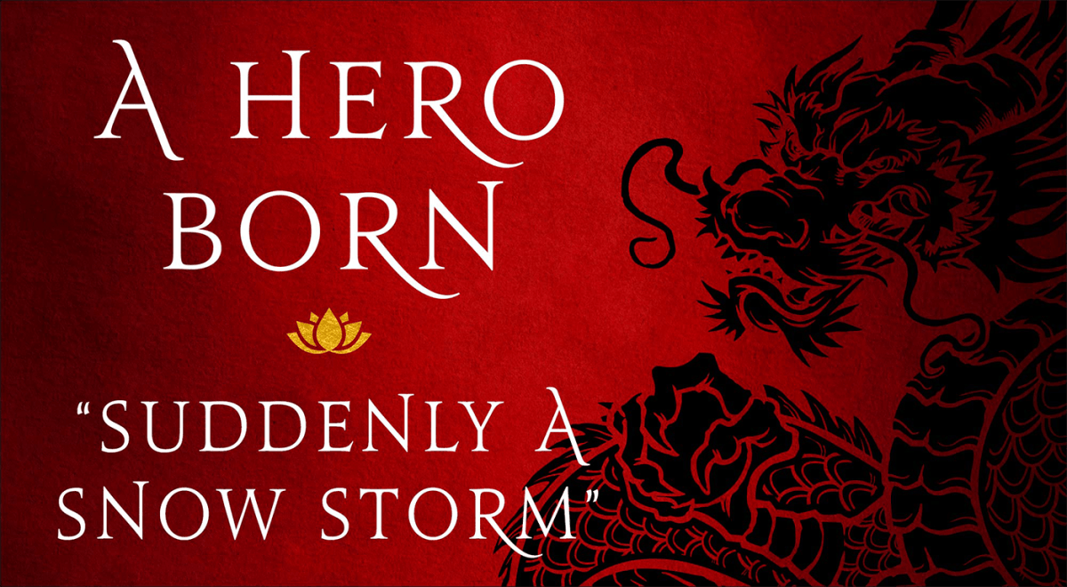 """Read Jin Yong's Kung Fu Wuxia Epic A Hero Born: """"Suddenly A"""