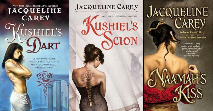 expansive SFF series 9+ books Kushiel Jacqueline Carey