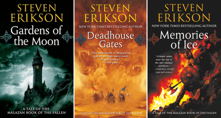 expansive SFF series 9+ books Malazan Book of the Fallen