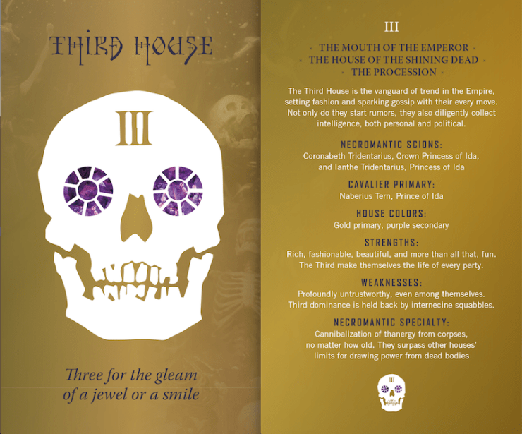 Gideon the Ninth, Third House postcard