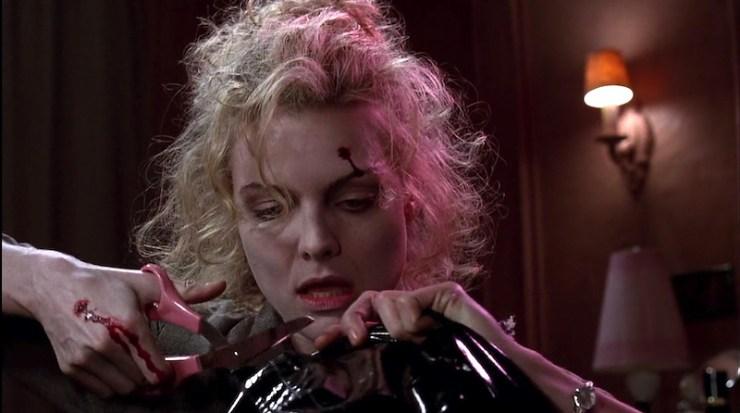 Michelle Pfeiffer makes Catwoman suit in Batman Returns