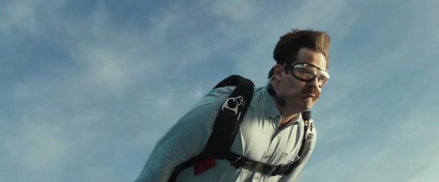 Deadpool 2 Peter skydiving