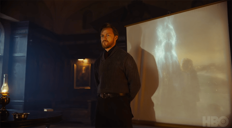 Lord Asriel (James McAvoy) in His Dark Materials)