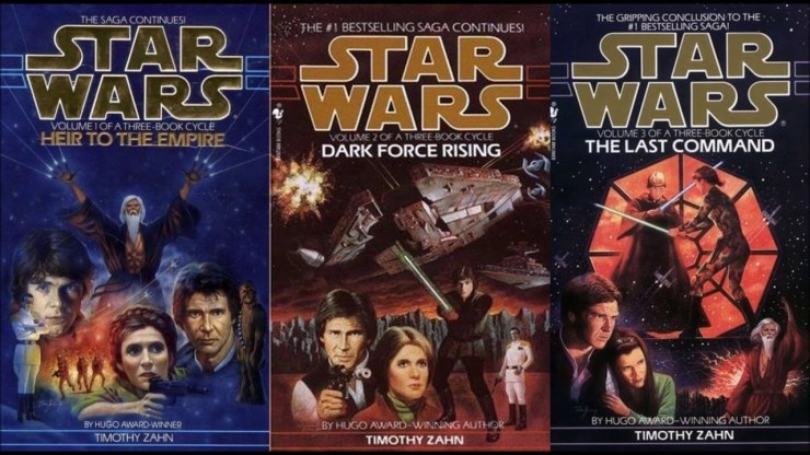 Book covers: Star Wars Thrawn trilogy