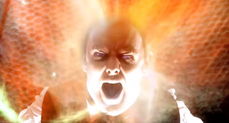 John Simm's Master regeneration from Doctor Who episode Utopia