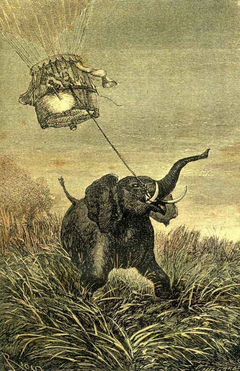Illustration from Jules Verne's Five Weeks in a Balloon