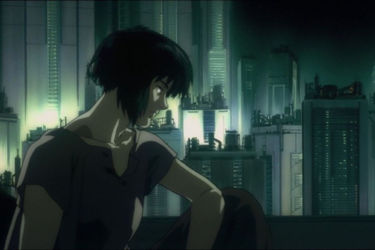 Major Motoko Kusanagi in Ghost in the Shell anime (1995)
