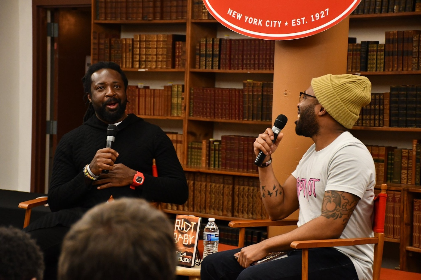Marlon James and Tochi Onyebuchi interview at The Strand in January 2020