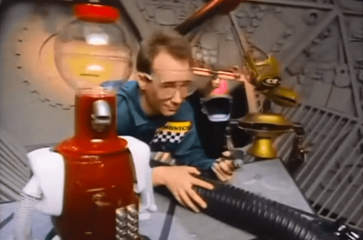Joel and the 'bots in Mystery Science Theater 3000