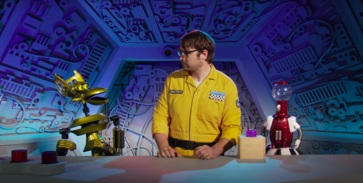 Jonah and the 'bots in Mystery Science Theater 3000