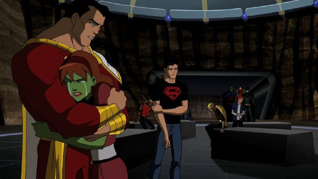 "Scene from ""Failsafe"" episode of Young Justice cartoon"