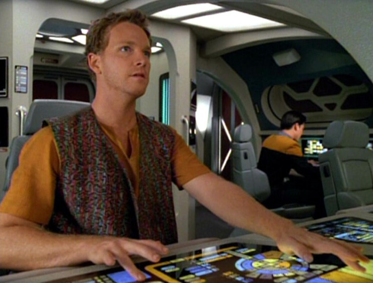 Tom Paris (Robert Duncan McNeill) and Harry Kim (Garrett Wang) in Star Trek: Voyager