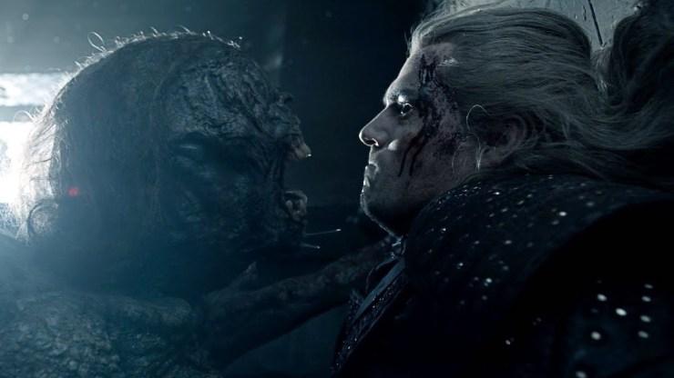 The Striga battles Geralt in The Witcher