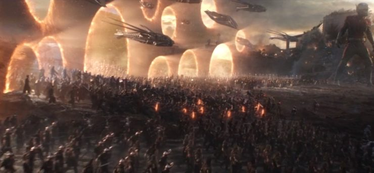 Avengers: Endgame, finale, portals