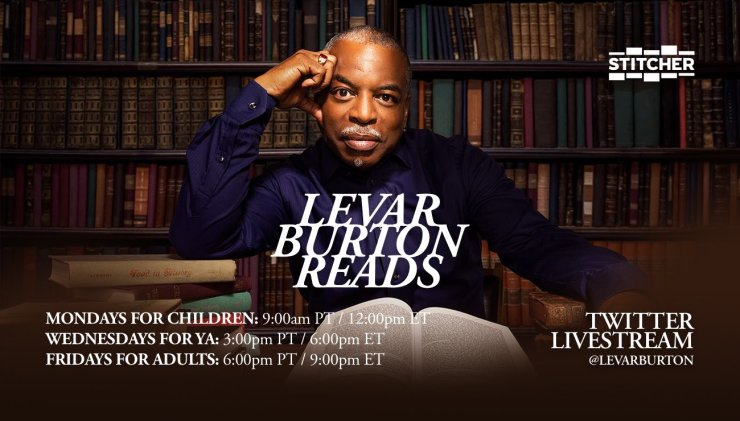 Blog Post Featured Image - Let LeVar Burton Read the Works of Neil Gaiman to You This Friday