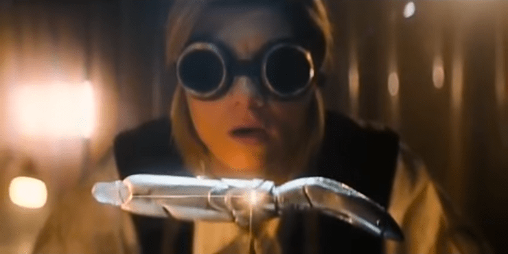 Doctor Who (Jodie Whittaker) and her sonic screwdriver