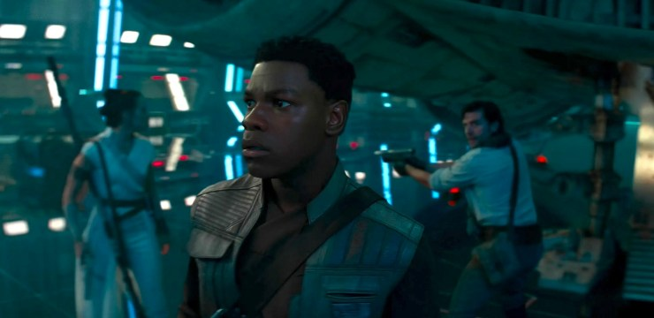 Star Wars, Rise of Skywalker, Finn on Star Destroyer