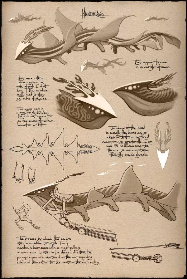 Mandras from Shallan's sketchbook by Ben McSweeney