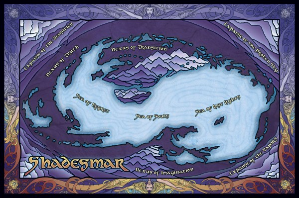 Map of Shadesmar by Isaac Stewart