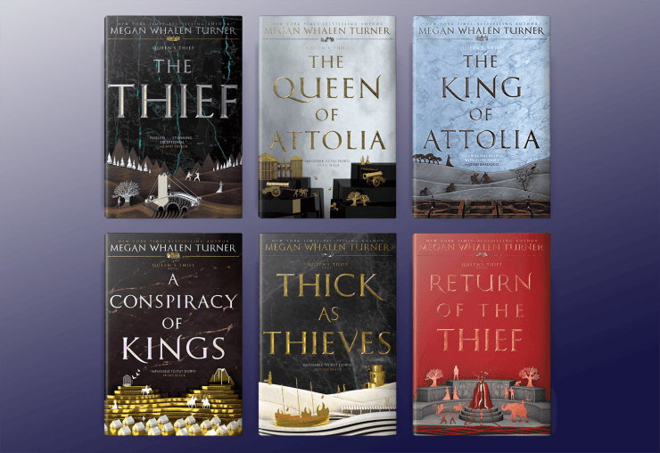 The Queen's Thief books by Megan Whalen Turner