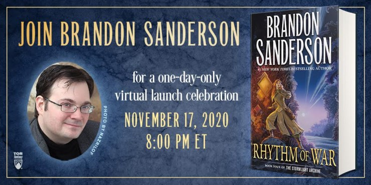 Blog Post Featured Image - Brandon Sanderson's Rhythm of War Launches With a Special Event and Signed Books