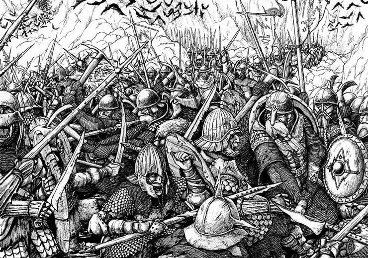 """""""A Batalha dos Cinco Exércitos"""" por Joona Kujanen"""