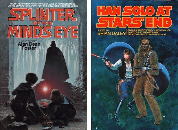 Blog Post Featured Image - Spinning New Tales: Splinter of the Mind's Eye by Alan Dean Foster and Han Solo at Star's End by Brian Daley