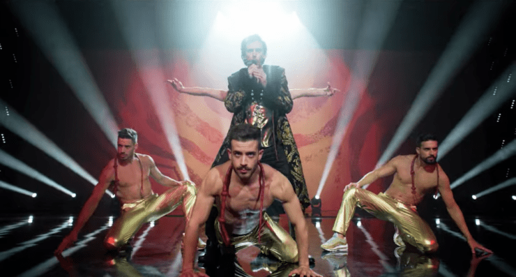 Eurovision Song Contest: The Story of Fire Saga fantasy bards Dan Stevens Lion of Love