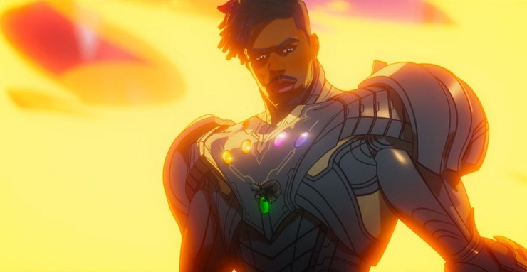 What If...? season one finale, Killmonger in Ultron armor with all the Infinity Stones