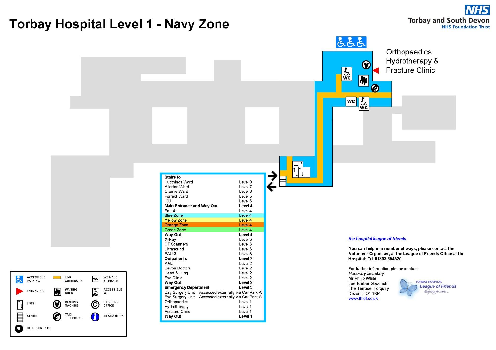 hight resolution of torbay hospital level 1 map