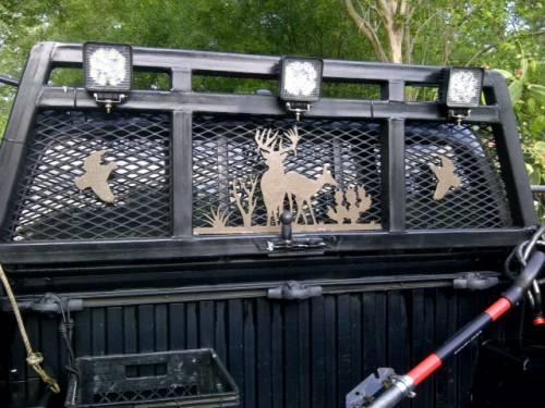 Pickup truck headache rack customized with Torchcraft