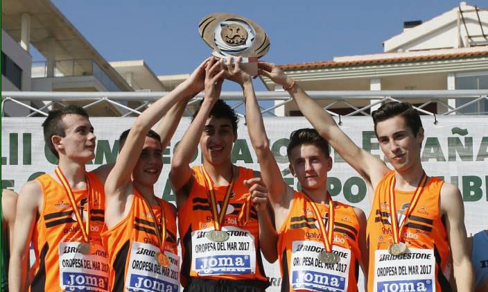 Elías Abril, campeón de España de Campo a través por Clubes
