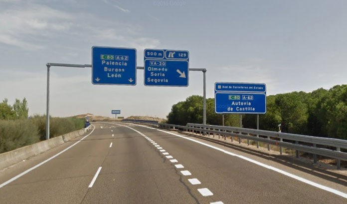 Fomento encarga los proyectos del tercer carril de la A-62 entre Cigales y Tordesillas