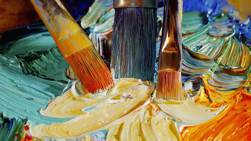 Los alumnos de la escuela de pintura exponen sus trabajos